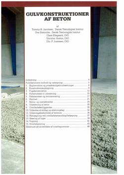 Gulvkonstruktioner af beton