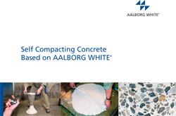 Selvkomptakterende beton - SCC med hvid cement