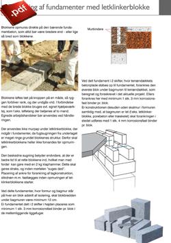 Opmuring af fundamenter med letklinkerblokke