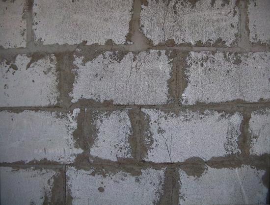 Lecablokke muret væg