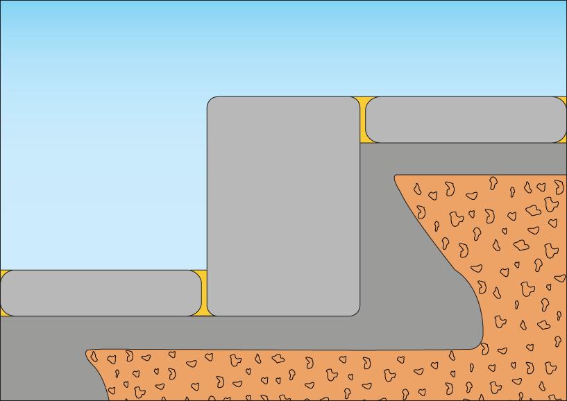 Opbygning af korrekt stødtrin på betontrappe