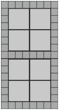 30x30 grå havefliser og hollændersten til indkørsel
