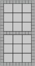 30x30 grå betonfliser og hollændersten