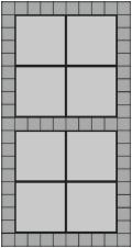 40x40 grå betonfliser og hollændersten til indkørslen