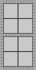 50x50 grå fliser og hollændersten til indkørsel