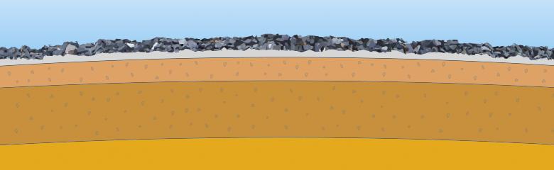 Granitskærver i indkørsel som gør det selv projekt.