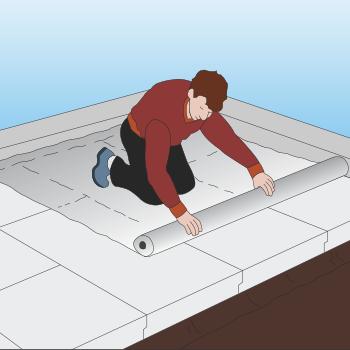 Der udføres en dampspærre for at undgå at radon og fugt trækker op