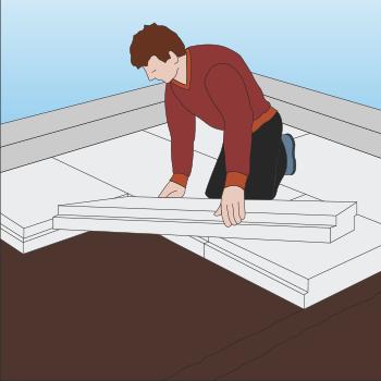 Isolering skal udføres ved gulve i boliger og andre gulve i opvarmede rum.