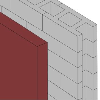 Opbygning af kældervæg