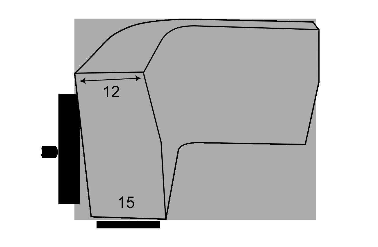 Indvendig hjørnekantsten 12x13x30