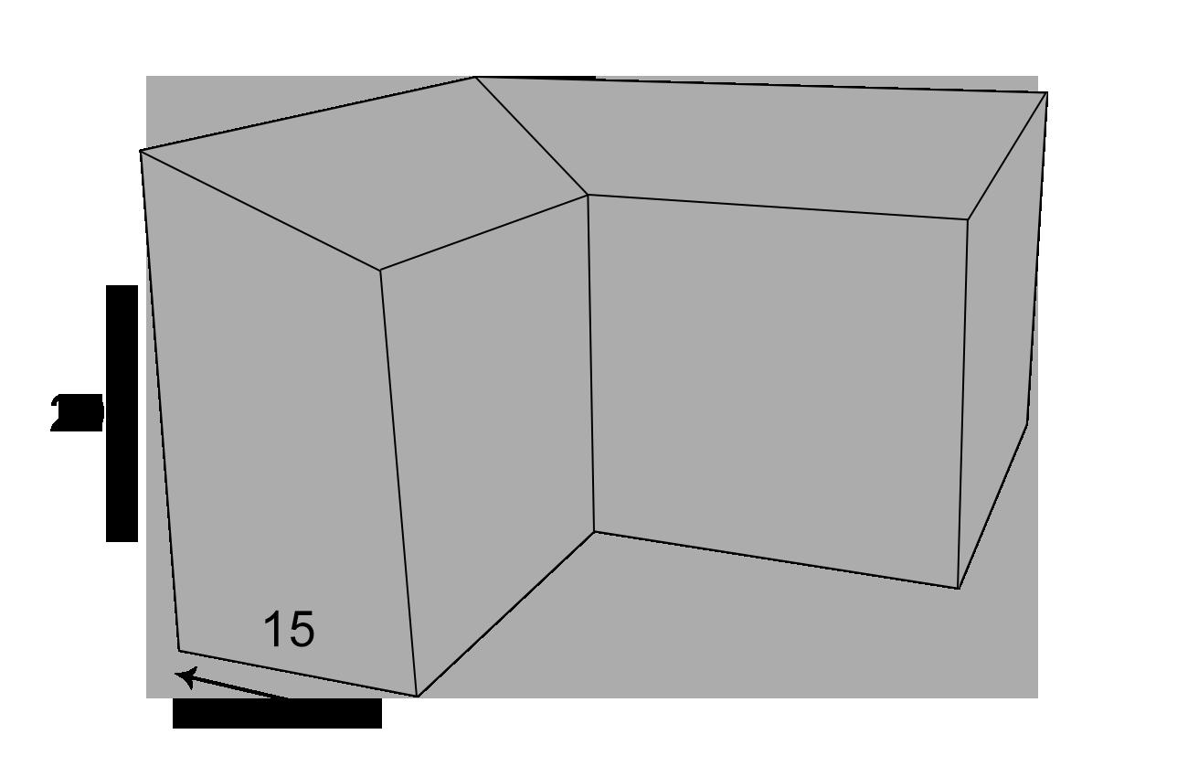 Indvendig hjørnekantsten 15x29