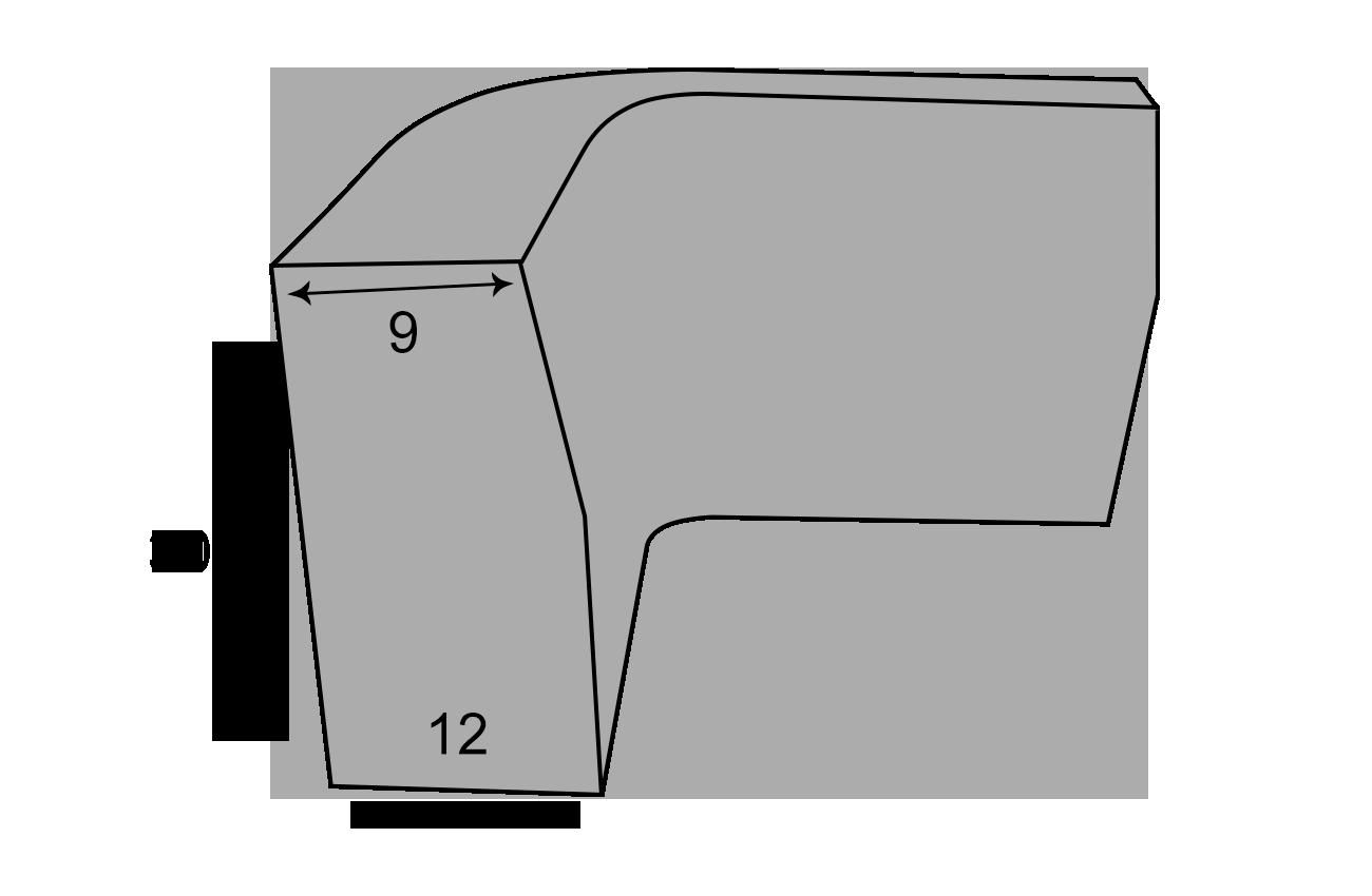 Indvendig hjørnekantsten 9x12x30