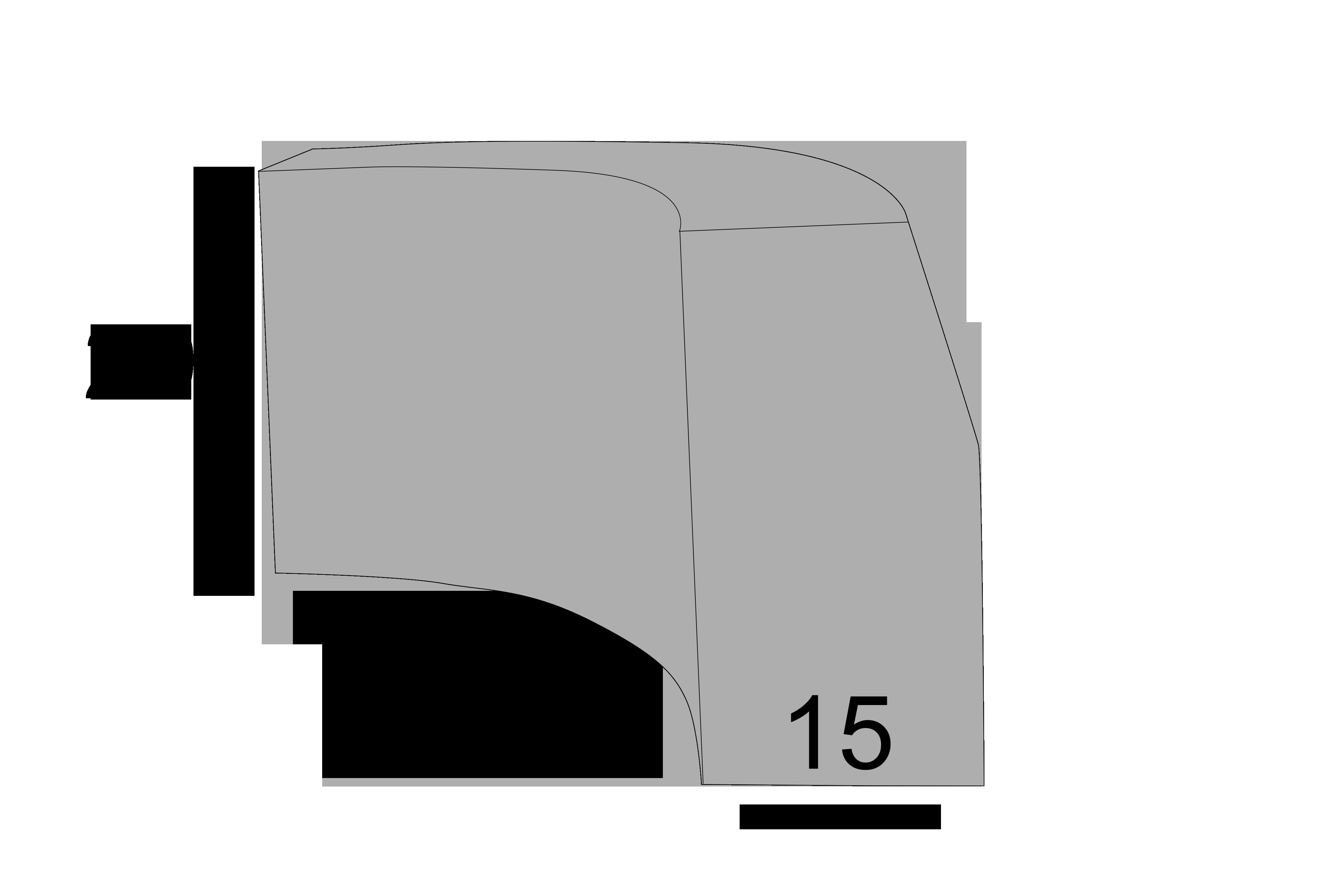 Radiuskantsten 15x29x30