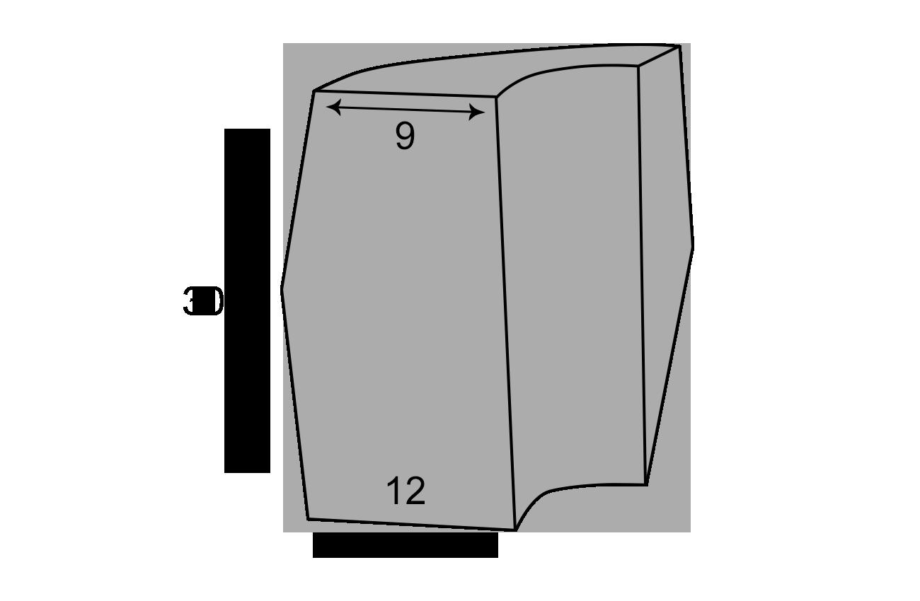 Udvendig hjørnekantsten 9x12x30