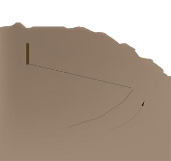 Afmærk cirklens yderkant