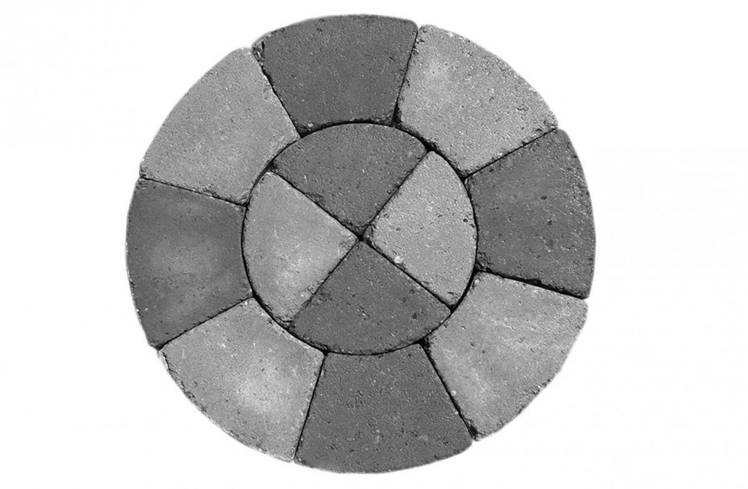 Image of   Gråmix Slotsbrosten centersten, lille m/slået kant