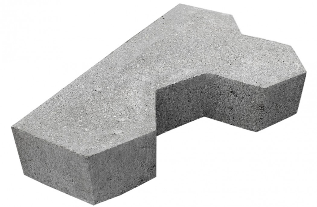 Image of   Grå Kløver begyndersten skarpkantet 6 cm tyk