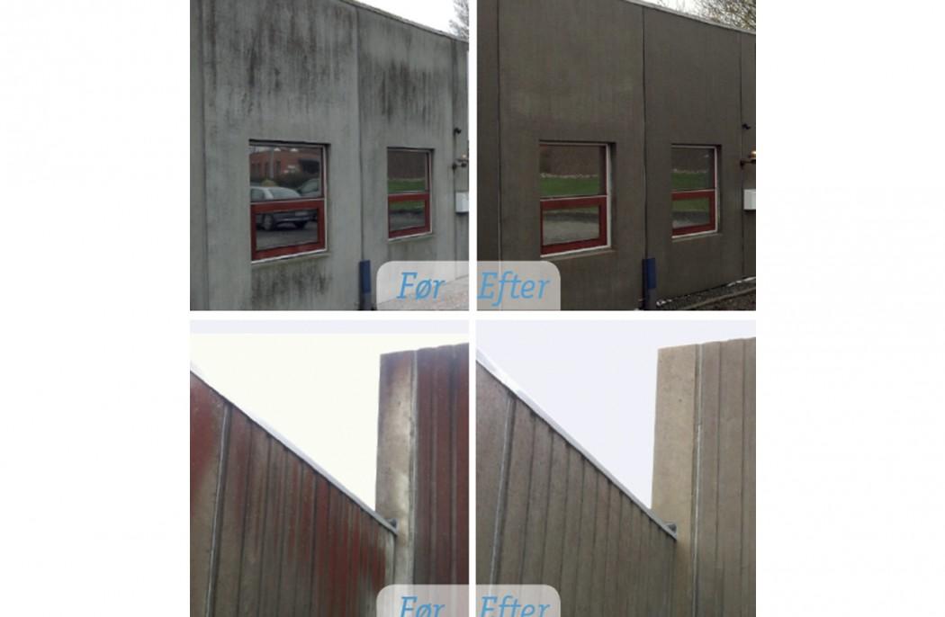 Image of   Algebehandling, rensning og imprægnering af facade