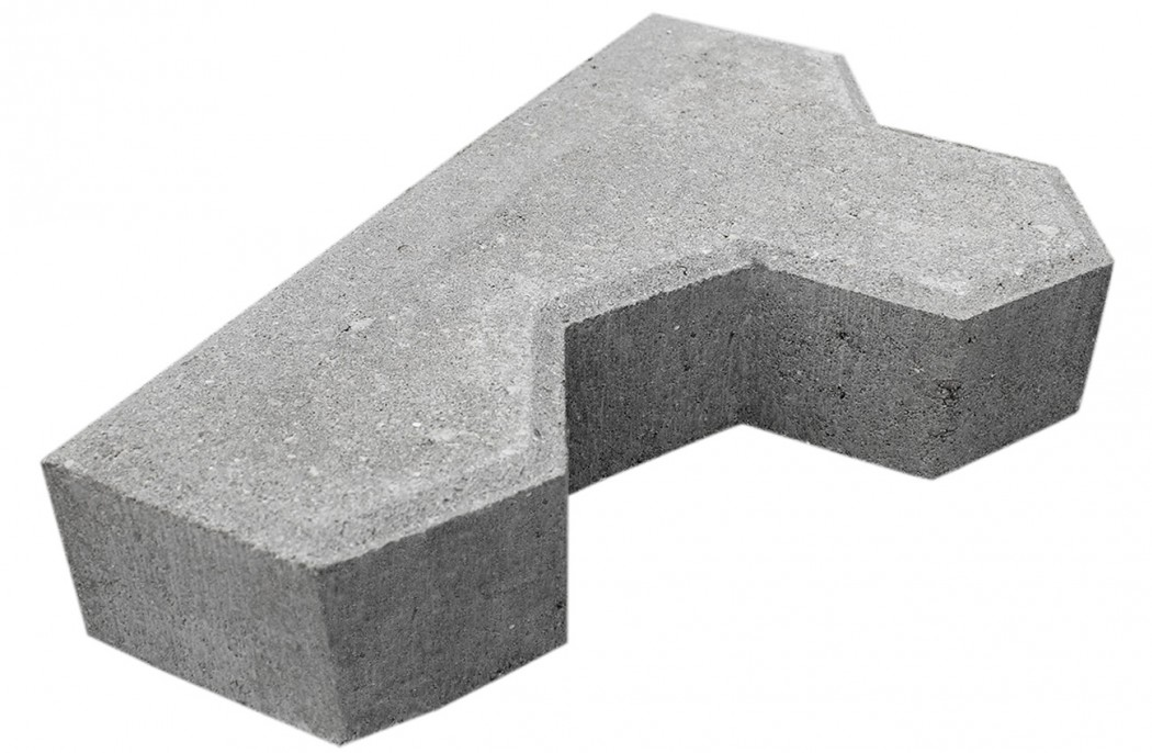 Image of   Grå Kløver begyndersten m/fas 6 cm tyk