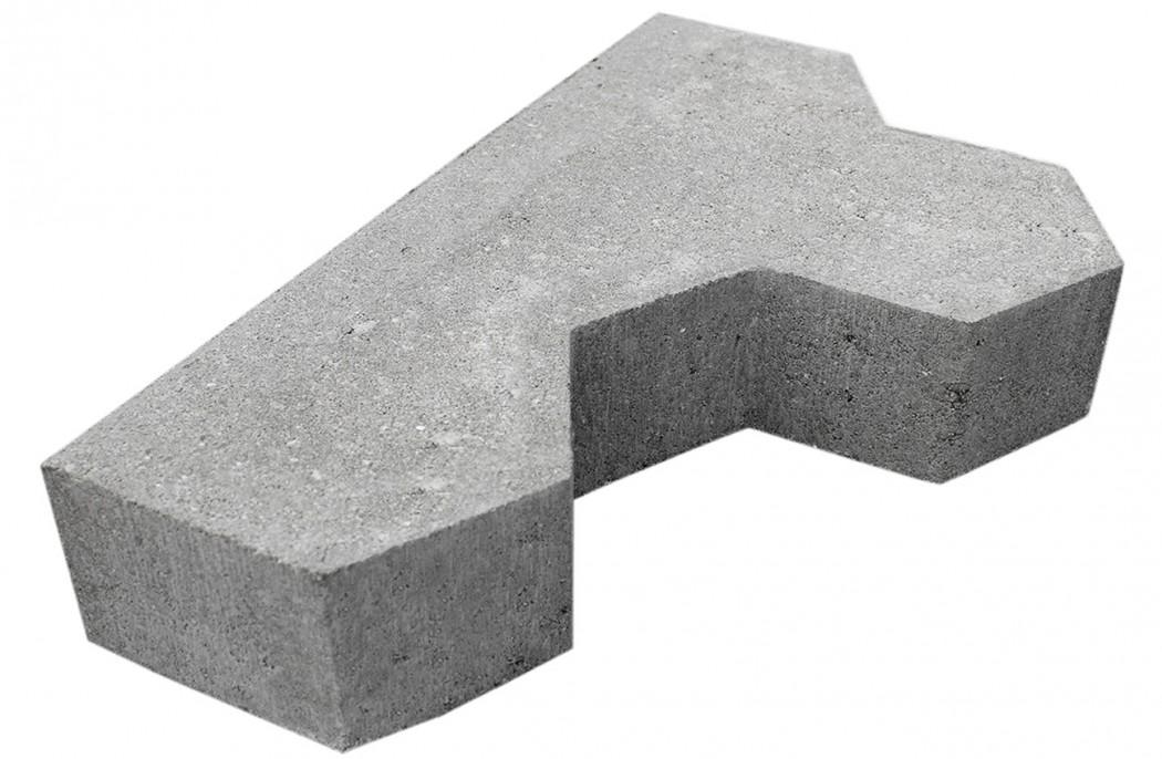 Image of   Grå Kløver begyndersten skarpkantet 8 cm tyk