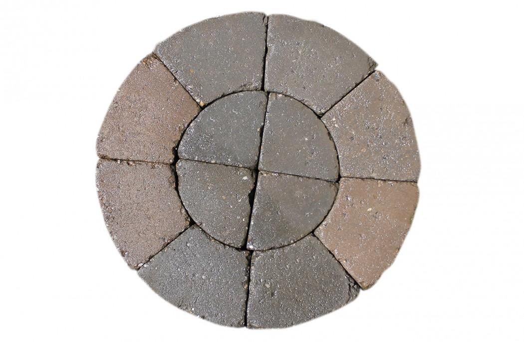 Image of   Brunmix Slotsbrosten centersten, lille m/slået kant