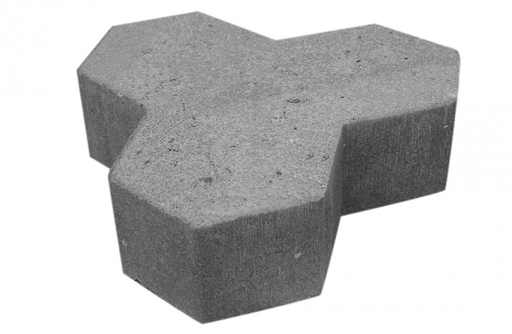 Skarpkantet Kløversten 8 cm tyk grå