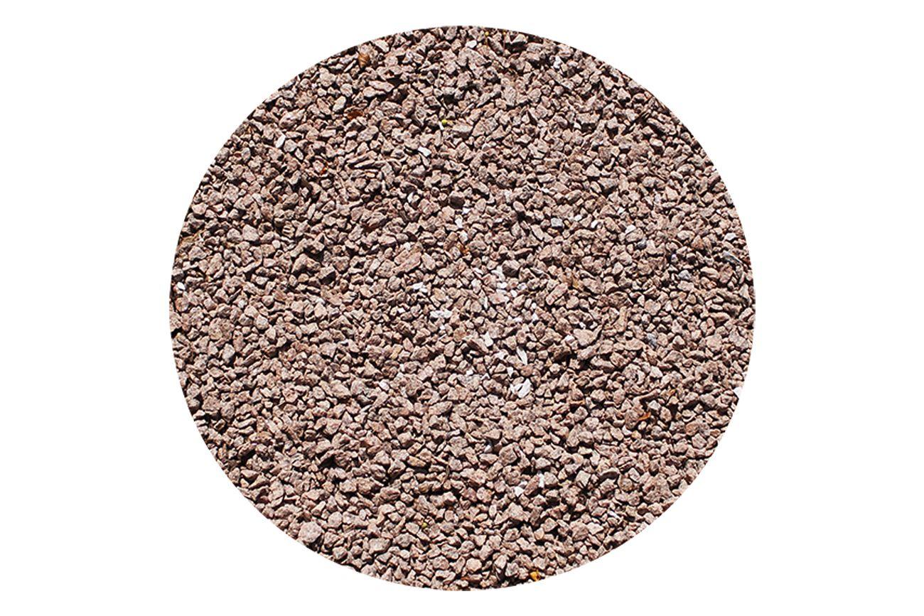 Rød knust granit