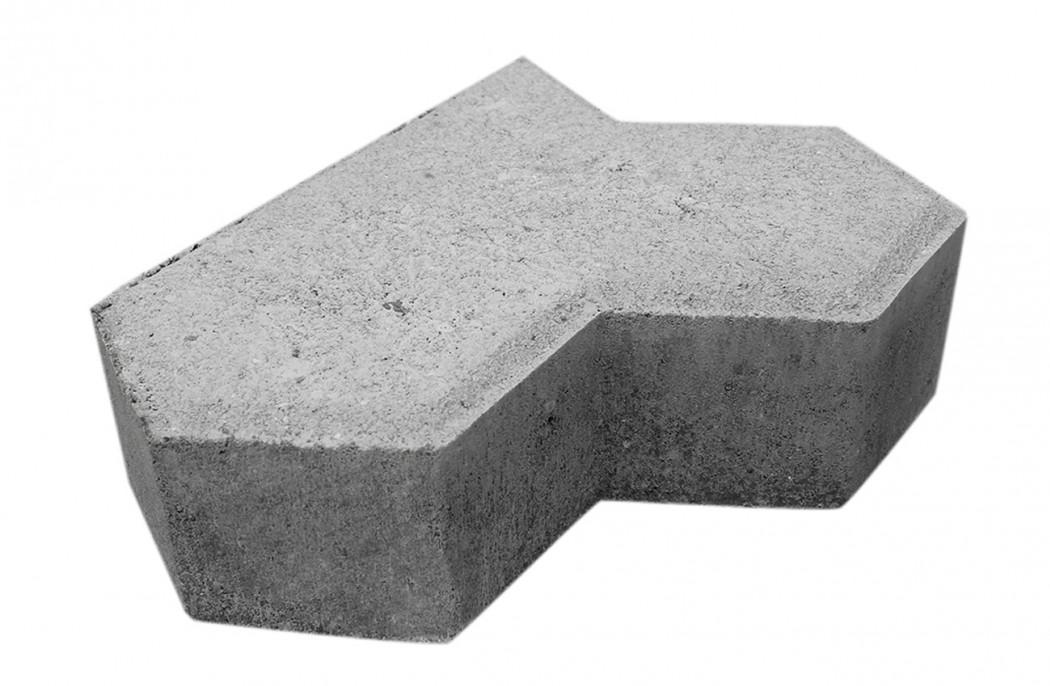 Image of   Grå Kløver sidesten m/fas 10 cm tyk