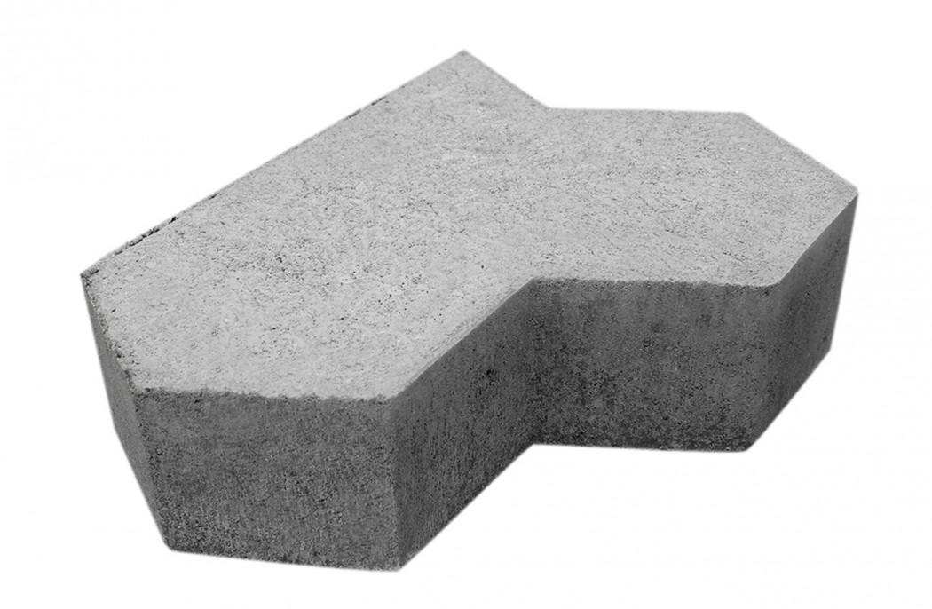 Image of   Grå Kløver sidesten skarpkantet 6 cm tyk