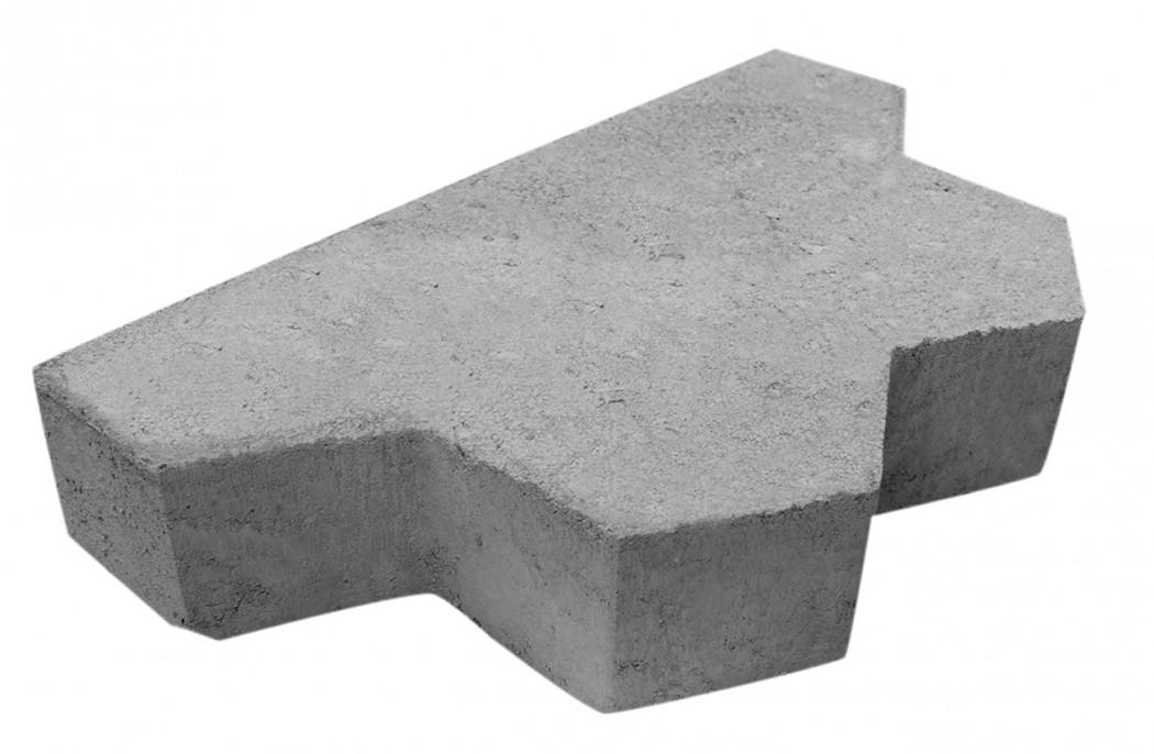 Image of   Grå Kløver slutsten skarpkantet 6 cm tyk