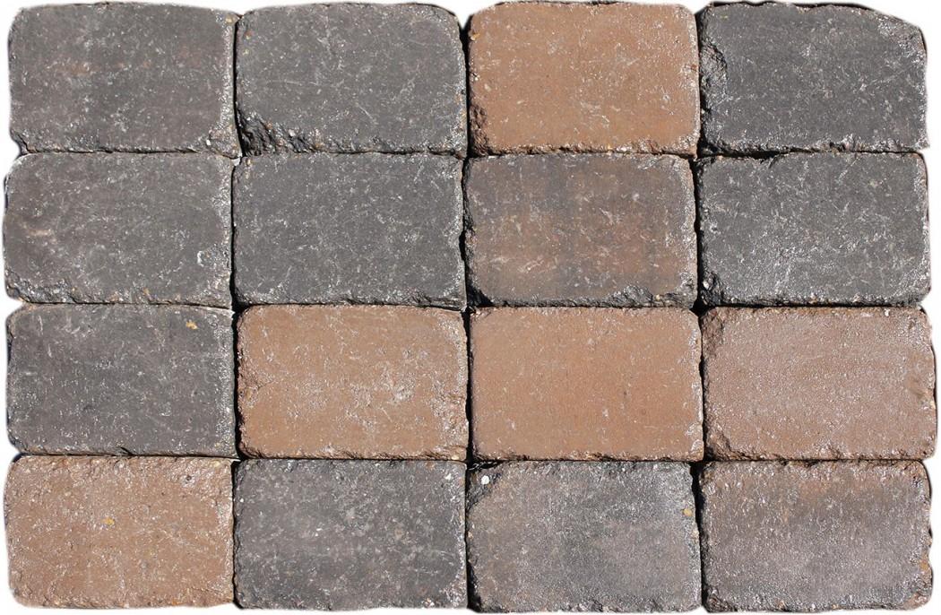 Image of   Brunmix Slotsbrosten m/slået kant halve 14x10,5x7