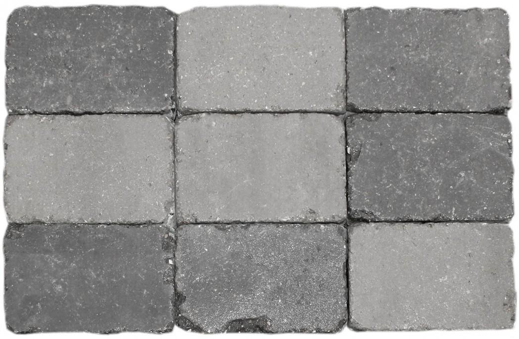 Gråmix Slotsbrosten m/slået kant halve 14x10,5x7