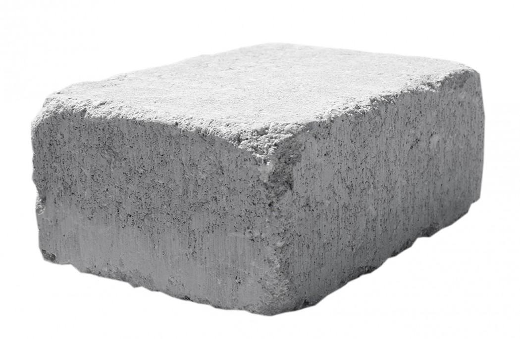 Grå Slotsbrosten m/slået kant halve 14x10,5x7
