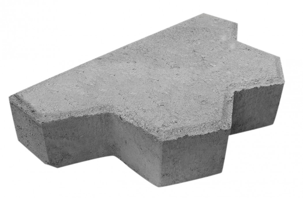 Image of   Grå Kløver slutsten m/fas 8 cm tyk