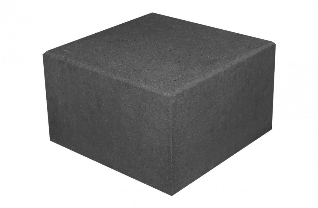 Picture of: Trappetrin I Koksgra Sort Beton 30x30x18