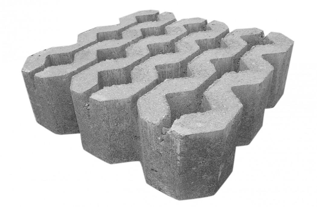 Græsarmering sten Grå Costa 30x30x9